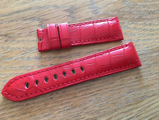 OFFICINE PANERAI OEM 22mm RED CROC STRAP FOR TANG BUCKLE