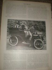 Printed photo Prince of Romania with Charles Rolls and car 1903 ref Z