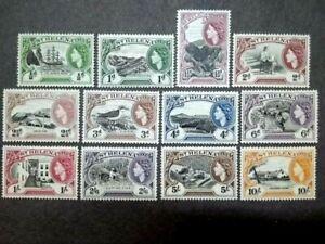 1953 St. Helena Queen Elizabeth II Complete Set - 12v MLH