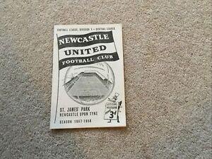 1957/8 Newcastle United V Nottingham Forest (Good Condition)