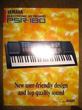 Yamaha PSR-180 Electronic Keyboard info sheet brochure