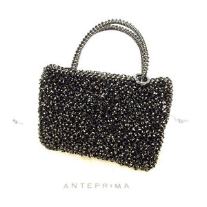 Anteprima Pouch Bag Black Woman Authentic Used A889