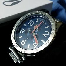 Nixon 51-30 Chrono Silver Navy Blue Men's Wrist Watch