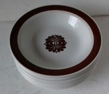 Egersund Norway 8 x 17cm 'Tana' Brown Brun dessert bowls vintage 1960s xllnt