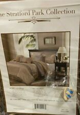 New, The Stratford  Park Collection, 7 Piece. Queen Comforter Set, Sand. New