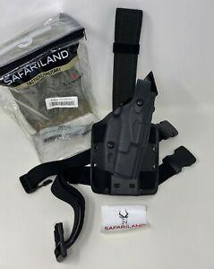 Safariland® 6304 ALS®/SLS Drop-Rig STX Tactical Black RH Holster, GLOCK 17 19 22