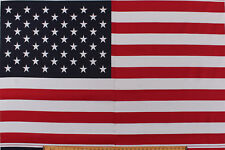 """35.5"""" x 60"""" Poly/Cotton Panel American Flag Banner Patriotic Fabric D245.08"""