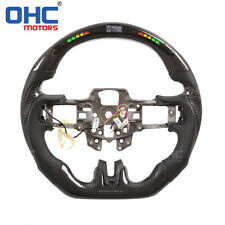 Real Carbon Fiber LED Steering Wheel for Ford Mustang