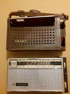 Vintage 1962 Sharp BZL-490 4 band transistor radio and case - made in Japan