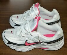 LADIES NIKE BRS 1000 WHITE WITH PINK/BLACK SIZE 9 1/2 RUNNING SHOES