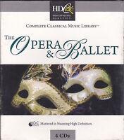 4 CD Box Cofanetto THE OPERA & BALLET ♫ VERDI ROSSINI TCHAIKOVSKY MOZART nuovo