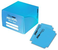 Ultra Pro DUAL 180 LIGHT BLUE Card Deck Box Standard Small Gaming Storage 84434