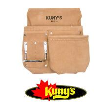 KUNYS AP719 Split Grain Journeyman Carpenters Builders Nail & Hand Tool Pouch