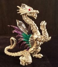 Comstock Crystal Dragon Pewter Figurine