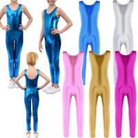 Girls Kids Gymnastics Leotard Ballet Dance Full Body Jumpsuit Dancewear Costume