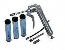 PISTOL GRIP ONE HANDED GREASE GUN WITH 3 X GREAS CARTRIDGES GREASING LUBE