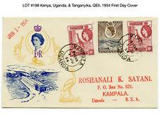 198: Kenya, Uganda, & Tanganyika, QEII, 1954 First Day Cover - Giraffe
