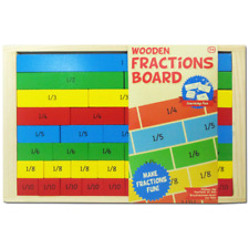Wooden Maths Learning Fractions Maths Learning Resources  Board