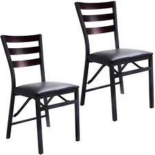 Set of 2 Folding Chair Dining Chairs Home Restaurant Furniture Portable New