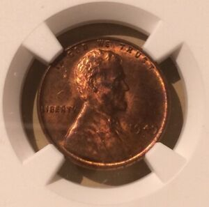 USA 1949 D One Cent NGC MS 64 RB - Lincoln Wheat