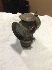 Antique Bicycle Lamp / Lantern / Solar Nickel With Glass Jewels