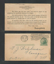 1916 Montgomery Ward & Co Chicago Ill Advertising Us Postal Card Ux27