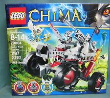LEGO #70004 LEGENDS OF CHIMA- WAKZ' PACK TRACKER 297 PCS