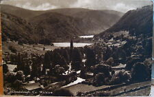 Ireland Postcard Glendalough Wicklow Round Tower Sepia Irish Tourist Association