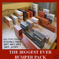 "HO Sale Offer Cargo Freight Card Kit Models ""THE BIGGEST BUMPER PACK EVER"" x 24"