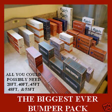 "Shipping Containers Card Kits HO Model ""THE BIGGEST BUMPER PACK EVER"" x 16"