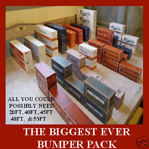 "Sale N Gauge Rail Freight Cargo Models ""THE BIGGEST BUMPER PACK EVER"" x 24"