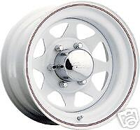 "4) 15"" PACER 310 WHITE Wheels 5 OR 6 lug"