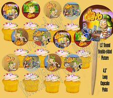 El Chavo Mexican TV Sitcom Double-sided Images Cupcake Picks Cake Topper -12 pcs
