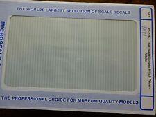 "Microscale Decal #91141 Barricade Stripes 6"" Wide - White (1:87 Scale)"