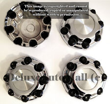 GMC Sierra Yukon Chevy Silverado Avalanche Suburban Chrome Wheel Center Caps 8""