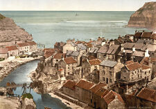 "P39 Vintage 1890's Photochrom Photo Staithes Whitby Yorkshire - Print A3 17""x12"""