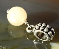 Golden Calcite Dangling Ball Crystal Gemstone Charm Bead Reiki Blessed Gem Stone