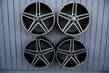 19 Zoll Avus AC-515 Alu Felgen 5x112 schwarz poliert für Mercedes C E Klasse AMG