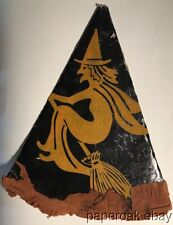 Original ca1920's Halloween Witch Hat With Great Graphics
