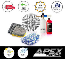 Apex Customs Detailer's Complete Wash Kit Scratch-Free Snow Foam Mitt Microfibre