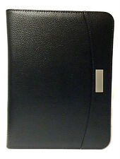 A5 Black Zipped Business Executive Conference Folder Withcalculator Amp Pad Cl9584
