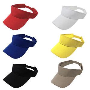 12 Pack Sun Visor Adjustable Cap Hat Athletic Wear - One Dozen