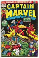 Captain Marvel 27 1st Series 1973 GD 2nd Thanos Captain America Iron Man Drax