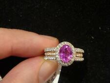CYBER WEEK 60% OFF!! $12K RARE FLAWLESS FANCY PINK SAPPHIRE DIAMOND RING 3CTS!!!