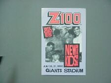 New Kids on the Block radio sticker Z100 Giants Stadium, 1990 !