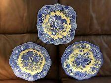 SPODE 12.5IN DISH SET OF 3 GARDEN COLLECTION BLUE ROSE, JASMINE, BRITISH FLOWERS