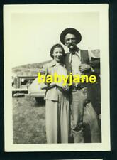 ANDY CLYDE VINTAGE 2X3 PHOTO ON LOCATION POSING WITH A FAN 1930's CANDID