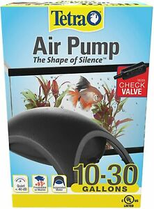 Tetra Whisper Quiet Powerful Airflow Air Pump 10-30 Gallons w/Check Valve