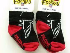 NFL Infant Baby Socks (Size 12-18 Months) Atlanta Falcons #2-2 (2 Pair)