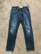 MENS BURTON TAPERED DENIM BLUE JEANS BUTTON FLY- SIZE W32 L32